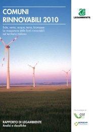 Rapporto Comuni Rinnovabili 2010 - Legambiente
