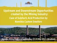 Upstream and Downstream Opportunities created by the Mining ...