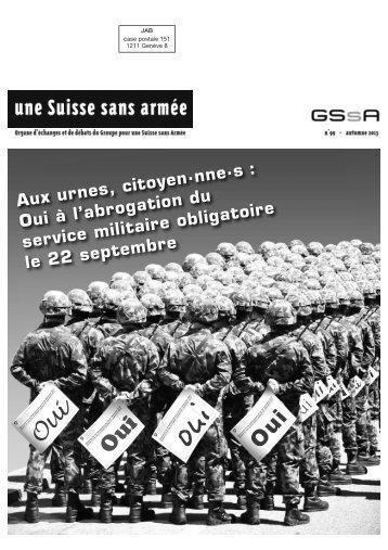 Journal 99 - Groupe pour une Suisse sans armée (GSsA)