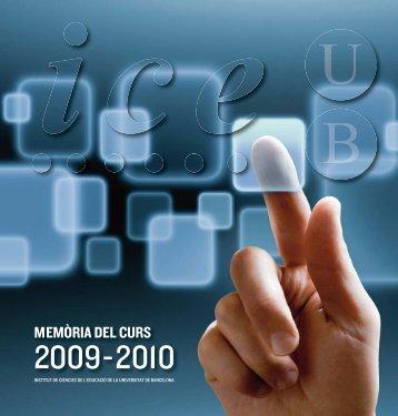 Memoria ICE 2009-2010 OK:curs 09-10 - Universitat de Barcelona