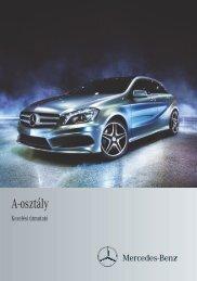 Mercedes-Benz A-osztály kezelési útmutató letöltése (PDF)