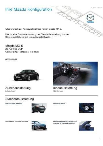 Technische Daten - Mazda Autohaus Rottmann