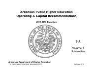 Arkansas Public Higher Education - Arkansas Department of Higher ...