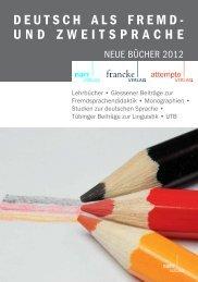 deutsch als fremd- und zweitsprache - Gunter Narr Verlag/A ...