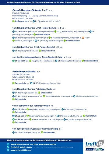 Mehr Informationen zu Bussen und Bahnen in  Frankfurt ... - traffiQ