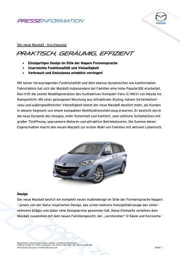 Praktisch, geräumig, effizient - Mazda Autohaus Rottmann