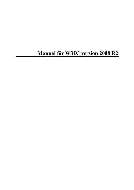 Manual för W3D3 version 2008 R2