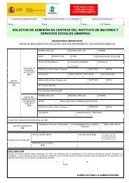 Formulario de solicitud - Imserso