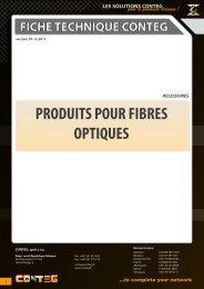 PRODUITS POUR FIBRES OPTIQUES - Conteg