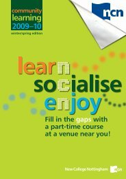 J5617 pcdl booklet - winter-spring - New College Nottingham