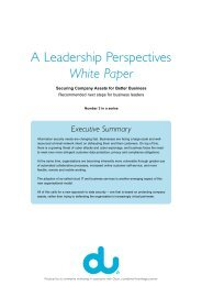 DU White Paper – Securing Company Assets for Better Business ...