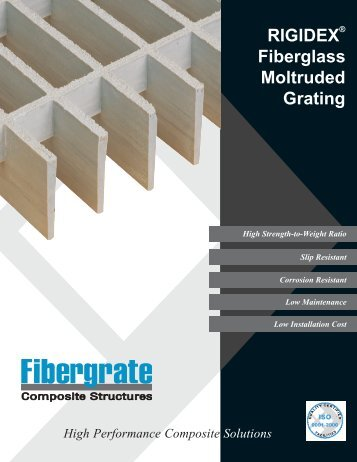 RIGIDEX Fiberglass Moltruded Grating - Fibergrate Composite ...