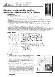 Návod na montáž, ovládání a údržbu - ELNAS sro
