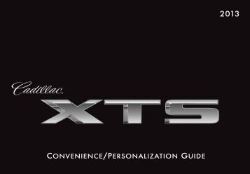 CONVENIENCE/PERSONALIZATION GUIDE - Cadillac