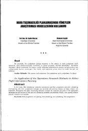 Hava Taşımacılığı Planlamasında Yöneylem Araştırması - Ankara ...