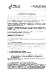 Accueil par la Présidente • Vérification du quorum • Approbation de l ...