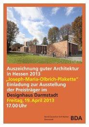 Einladungskarte (PDF) - Bund Deutscher Architekten BDA