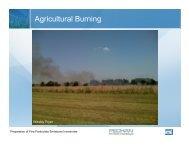 Agricultural Burning - MARAMA