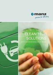 clean tech made by manz