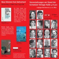 Flyer - Swiss Independent Publishers