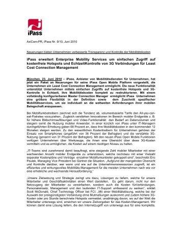 iPass erweitert Enterprise Mobility Services um einfachen Zugriff auf ...