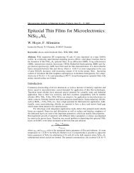 Epitaxial Thin Films for Microelectronics: NiSi2-xAlx - Institut für ...