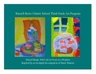 Russell Byers Charter School Third Grade Art Program