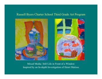 Russell Byers Charter School Third Grade Art Program