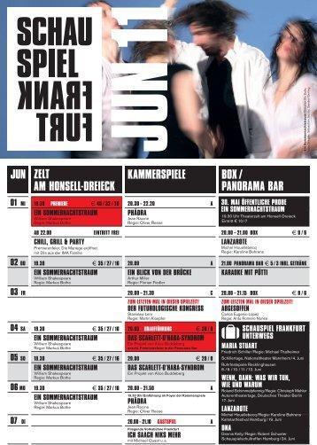 ZELT AM HONSELL-DREIECK JUN ... - Schauspiel Frankfurt