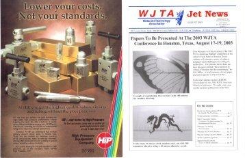 August - Waterjet Technology Association