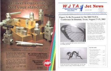 August - Waterjet Technology Association