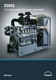 V12 diesel engine for power generation. - MAN Diesel & Turbo SE