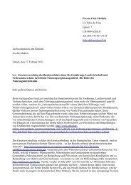 Forum Gaia Medizin c/o Felix de Fries Eglistr. 7 CH ... - Ummafrapp