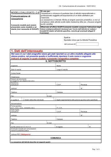 Cessazione [file.pdf] - Sardegna SUAP