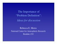 """The Importance of """"Problem Definition"""": Ideas for discussion"""