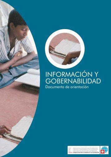 Información y gobernabilidad - Observatorio Mediterráneo de la ...