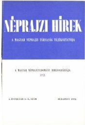 A magyar néprajztudomány bibliográfiája 1971 ... - Néprajzi Múzeum