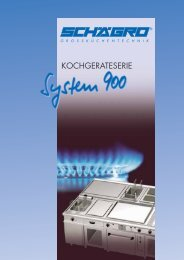 Kochgeräte-Serie System 900 - Schägro Großküchentechnik