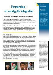 Partnerskap - ett verktyg för integration