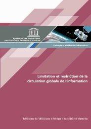 Politique et société de l'information: limitation et ... - unesdoc - Unesco