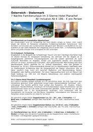 Österreich - Steiermark 7 Nächte Familienurlaub ...  - Scharff-Reisen.de