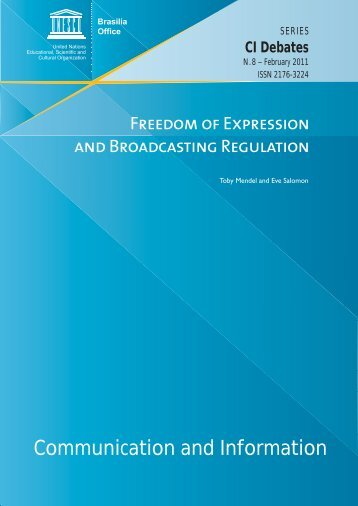 Freedom of expression and broadcasting ... - unesdoc - Unesco