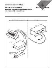 Instrucciones para el instalador - ID7sx - METTLER TOLEDO