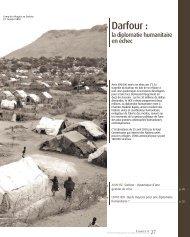 Darfour : dynamique d'une gestion de crise - Groupe URD