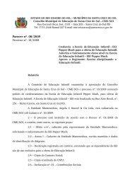 Parecer nº. 08/2009 - Prefeitura de Santa Cruz do Sul