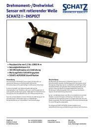 Drehmoment-/Drehwinkel Sensor mit rotierender Welle ... - Schatz AG