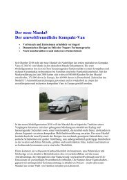 Der neue Mazda5 - Mazda Autohaus Rottmann