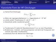 Kanonische Form der HF-Gleichungen