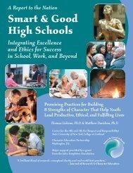 Smart & Good High Schools: Integrating - SUNY Cortland