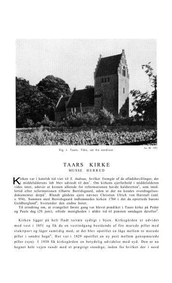 TAARS KIRKE - Nationalmuseet